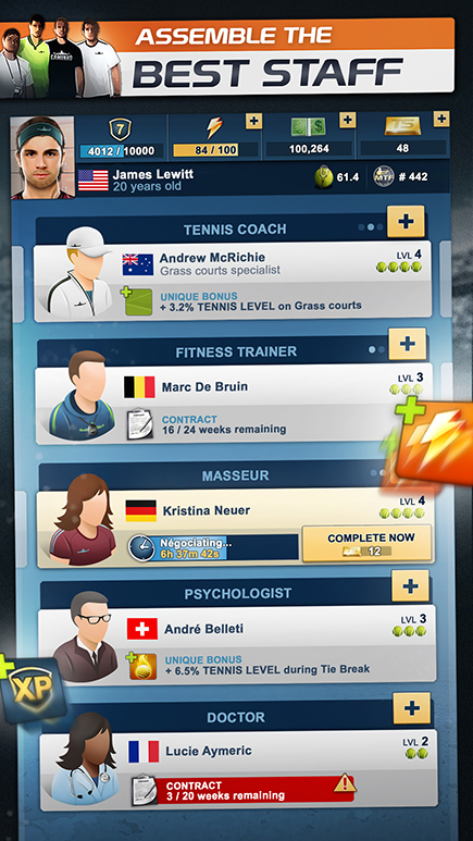 MANAGER YOU CAREER AND BECOME A TENNIS LEGEND